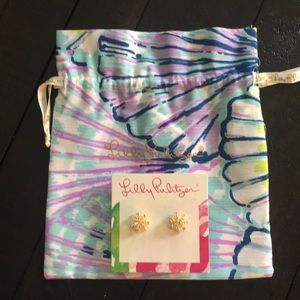 Lilly Pulitzer earrings, bag set. Beautiful! NEW!
